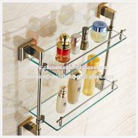 Quality Clear Tempered/Toughened Glass Multilayer Bathroom Shelf for sale