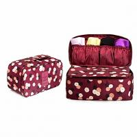 Quality Fashionable Bra And Panty Travel Case / Portable Travel Lingerie Organizer Bag for sale