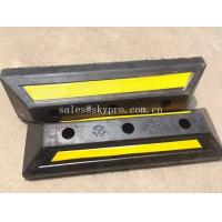 China Yellow And Black Molded Rubber Products , Truck Wheel Chocks For Vehicle Parking on sale