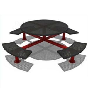 Quality EU Standard Backyard Playground Equipment Rotational Moulding Community Metal Bench for sale
