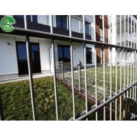 Quality Decorative black welded mesh fence panels twin wire mesh fence for sale for sale