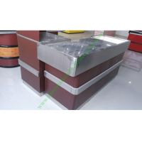 Buy Stainless Steel Supermarket Checkout Counter / Store Non Electric Cashier Desk at wholesale prices