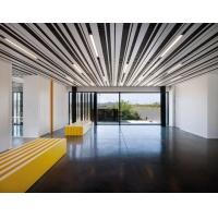 Quality Decorative  Ceiling Aluminium Strip Slat  85mm For Airport Office Ral 9010 White Or Customized for sale