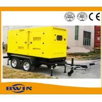 Quality Mobile Portable Silent Diesel Generator Set with Trailer 200KW 1500 RPM for sale