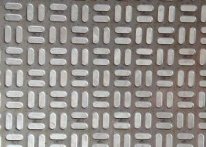 Quality 1220x2440mm Stainless Steel Perforated Metal Sheet Anodized AISI Standard for sale