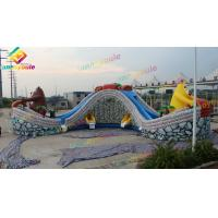 China Attraction Commercial Bounce House Water Slide For Children High Safety on sale
