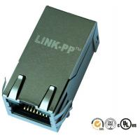 China Gigabit Magnetic RJ45 Jack 0826-1C4T-23-F1 With Ultra-Bright LEDs In PCB board on sale