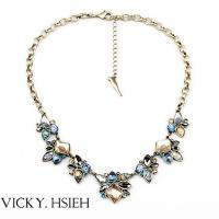 Quality VICKY.HSIEH Brass Ox Tone Multi Color Resin Bead Latest Design Beads Necklace for sale