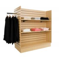 China Custom Four sided Wood POP and MDF Display Stands unit with hangers for display clothing on sale