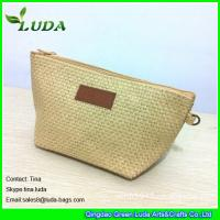 Quality cheap lady straw handbags foldable paper straw clutch bags for sale