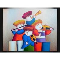 Quality OEM Cartoon Decoration Paint Handmade Oil Painting On Canvas, Wood Board ETH113 for sale