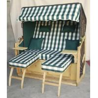 Quality All Weather 2 Seat Roofed Wicker Beach Chair & Strandkorb For Garden for sale