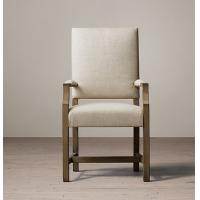 Buy cheap High back fabric dining chairs, Oak / Birch / Rubber armchair dining chairs from Wholesalers
