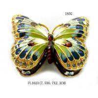 Colorful Butterfly Metal Alloy Jewelry Box Butterfly Trinket Box