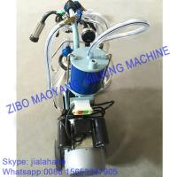China For EU market,Piston Typed Single Bucket Mobile Milking Machine,small portable milking machine for cow and sheep on sale