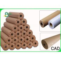 Quality 24  36  48  60  × 50m Plain CAD Drawing Paper Roll For Apparel Factory 80GSM for sale