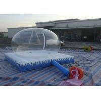Quality Christmas Inflatable Snow Globe / Clear Bubble Tent With Air Mattress and Zipper for sale