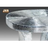 Quality Oval Top Silver Mirror Mosaic Glass Table / Pedestal for sale