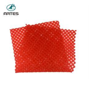 China Household Floor Red Bath Mat , 60*75cm Non Skid Bathroom Floor Rugs on sale
