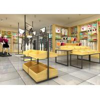 Quality High Class Underwear Display Stand Racks For Cloth Shop Wood Material for sale