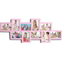 Quality hot sale 10 opening photo frame wood photo frame wholesale multi photo picture frame for sale