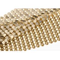 Quality Aluminum 4MM Gold Sequin Fabric Flexible Table Cloth Shrink - Proof for sale