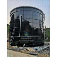 Quality Dark Green Agricultural Water Storage Tanks Bolted Glass - Fused - To - Steel for sale
