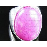 Quality Fashional zinc alloy pink gemstone ring for sale