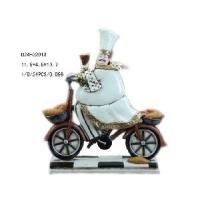 Quality Home Decorative Polyresin Chef Figurine on Bike (D24-32013) for sale