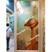 Quality Engraved Decorative  Glass Partition Wall for sale
