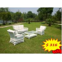 Quality All Weather Wicker Furniture 4pcs Outdoor Rattan Sofa , Outdoor Wicker Patio Furniture for sale