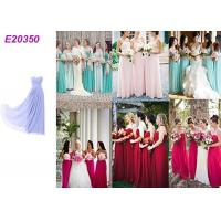 Quality Long Chiffon Wedding Bridesmaid Dresses For Guest Wedding Party Multi Color Optional for sale