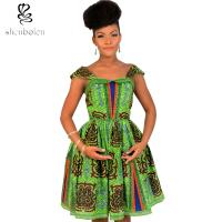 Quality Cute Sleeveless African Print Dresses Batik Printing 100% Cotton Ball Gown for sale