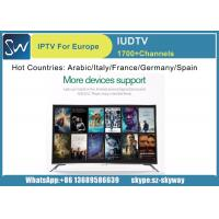 China 1700 channels in Europe IUDTV iptv support different kinds of tv shows for tv receivers on sale