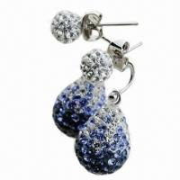 Quality Crystal Drop Earring, Available in Various Colors and Sizes for sale