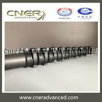 Quality Carbon fiber telescopic pole for window cleaning pole with clamps for sale
