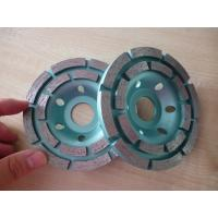 """Quality 7"""" Double Row Diamond Cup Grinding Wheel For Stone Tools Grinding Granite for sale"""