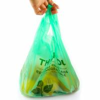 Buy 40 % Bio Based Biodegradable Plastic Shopping Bags , Eco Friendly Plastic Bags at wholesale prices