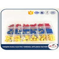 Quality Transparent Box Subpackaging Red Yellow Blue Assorted electrical terminal kit Insulated 180 Pcs wire connector kit for sale