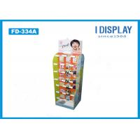 Quality Floor Stand Hook Cardboard POP Displays Light Duty For Lipstick Retail for sale