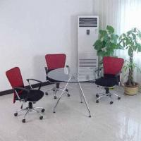 Quality Glass Meeting Table with Steel Tube, Customer
