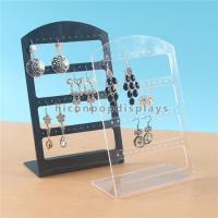 China Earring Display L Shape Pure Acrylic Retail Display Units for Accessories on sale