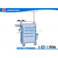 Buy cheap Medical Trolley with Drawers on Wheels Stainless Steel Guard Rail With Four Aluminum Columns from wholesalers