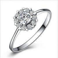 Quality Beautiful Rose silver rings women ring TJ0010 for sale