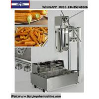 Quality TJ-10 Stainless Steel Commercial Churro Depositor And 12L Electric Fryer for sale