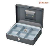 Quality 6 Cell Money Bank Box With Key Lock , Grey Color Money Storage Safes for sale