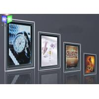 Quality Silver Single Side LED Slim Crystal Frame Light Box Wall Display Round Corner for sale