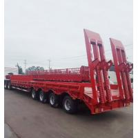 Quality Gooseneck Lowboy Low Bed Semi - Trailer 50t 60t 80t For Container Transportation for sale