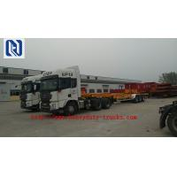 Quality Three Axles 40 ft 20 ft Container Chassis Skeleton Semi Trailer Truck for sale