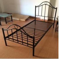 Buy Black Iron Home Full Size Metal Beds Bedroom Furniture with White , Black or Custom Color at wholesale prices